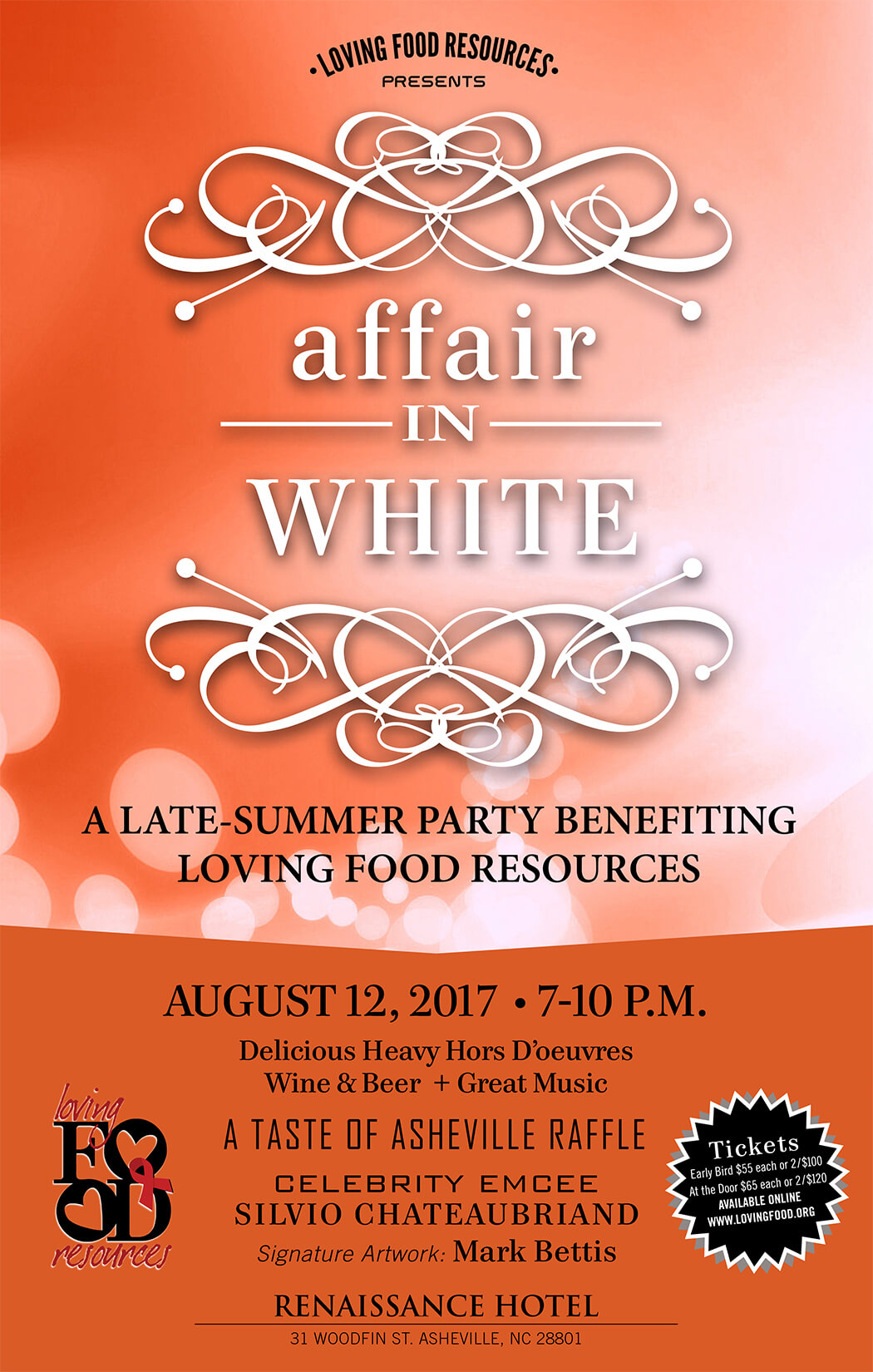 Affair in White: Loving Food Resources' Annual Fundraising Gala