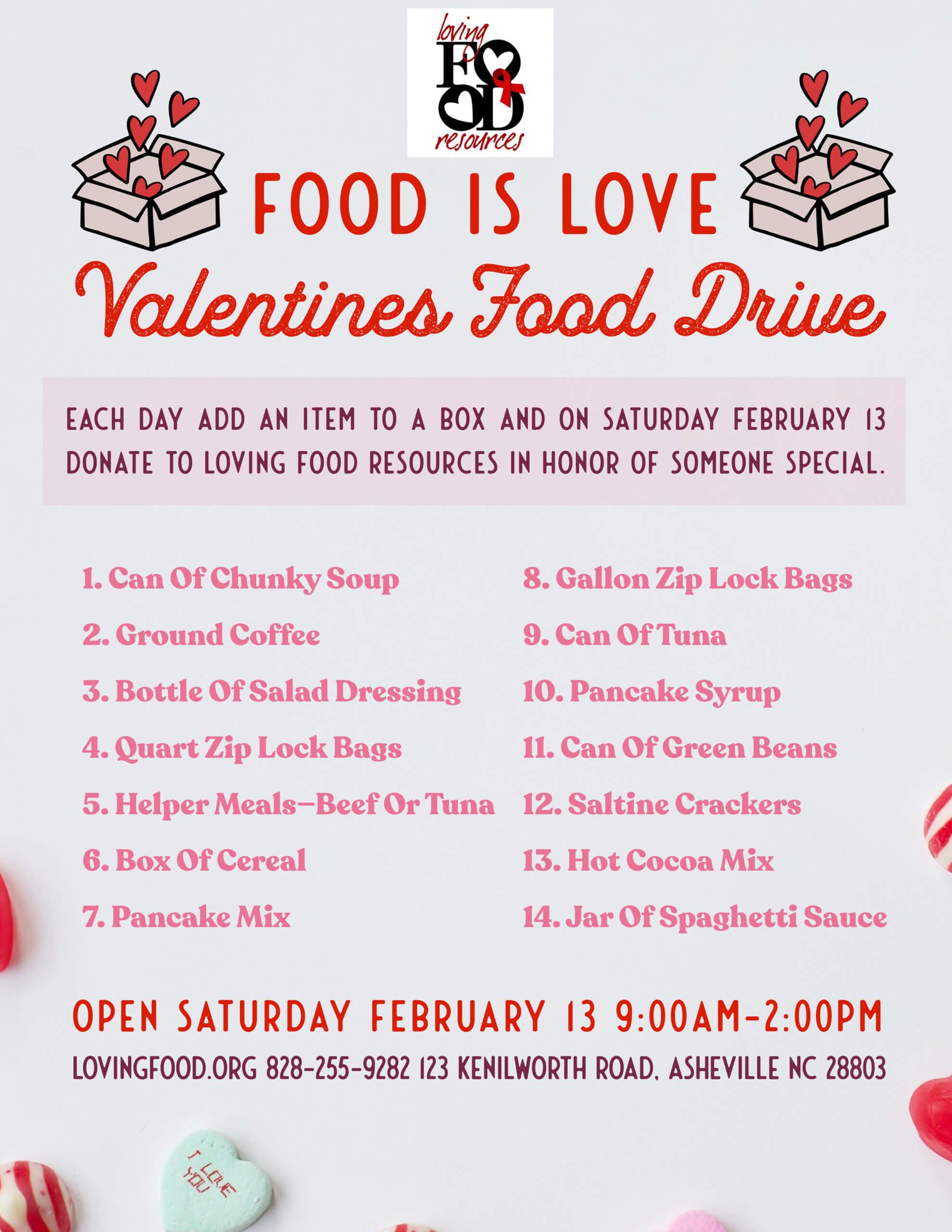 Valentines Food Drive
